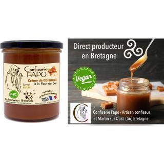 Saveurs de Bretagne - Sauce Caramel VEGAN à la fleur de sel - Confiserie