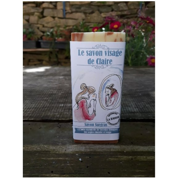 Savonnerie la Brique - Nature et Progrès - Le savon visage de Claire - Savon - 0.100