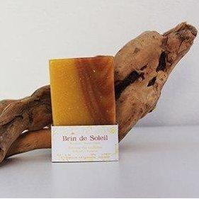 SAVONNERIE DE LA FOUX - Brin de Soleil (Roucou Petit-Grain) - 100 g - savon de toilette visage corps