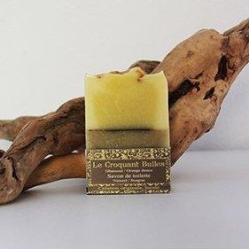 SAVONNERIE DE LA FOUX - Le Croquant Bulles (Ghassoul Orange) - 100 g - savon de toilette visage corps