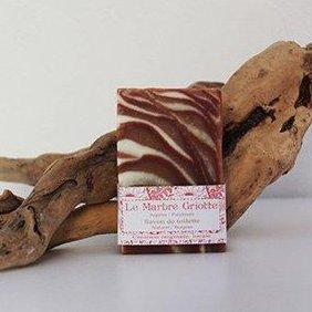 SAVONNERIE DE LA FOUX - Le Marbré Griotte (Argile Patchouli) - 100 g - savon de toilette visage corps