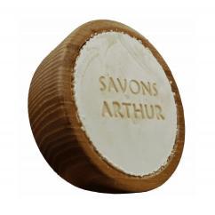 SAVONS ARTHUR - Savon à barbe bio et son bol en bois d'acacia - Savon à barbe