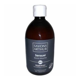 SAVONS ARTHUR - Savon douche bio Sensuel 500mL – Régénérant - savon liquide