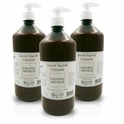 SAVONS ARTHUR - Savon liquide bio citronné avec pompe 1L - savon liquide