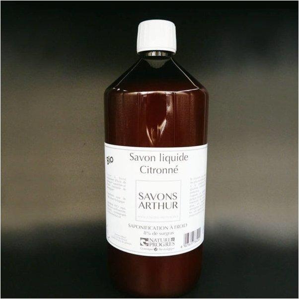 SAVONS ARTHUR - Savon liquide bio citronné recharge 1L - savon liquide