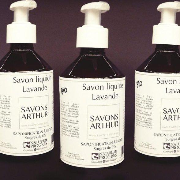 SAVONS ARTHUR - Savon liquide bio lavande avec pompe 300ML - savon liquide