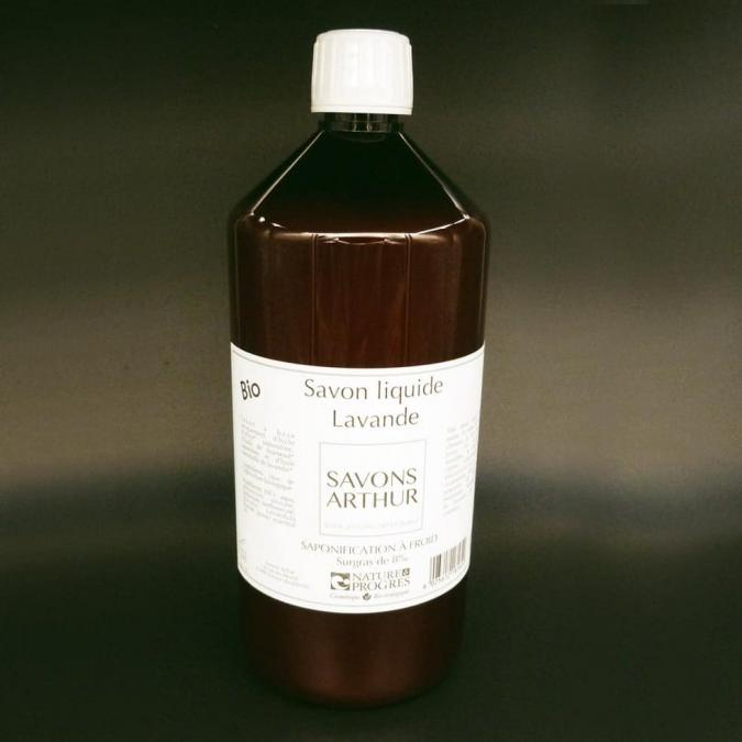 SAVONS ARTHUR - Savon liquide bio lavande Recharge de 1L - savon liquide