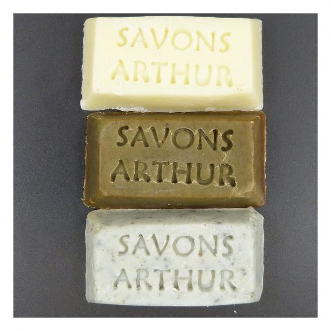 SAVONS ARTHUR - Trios de financiers bio nature, argile et ortie - Savon - 0.050