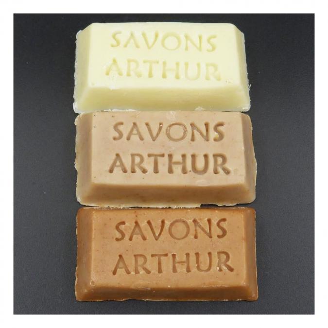 SAVONS ARTHUR - Trios de financiers bio nature, lavande curcuma - Savon - 0.050