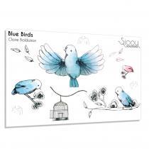 Sioou - Blue Birds - Tatouage éphémère
