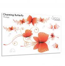 Sioou - Charming Butterfly - Tatouage éphémère