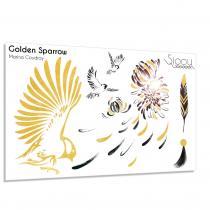 Sioou - Golden Sparrow - Tatouage éphémère
