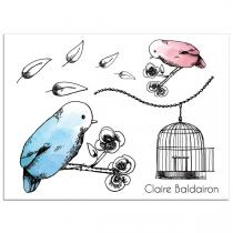 Sioou - Mini Birds - Tatouage éphémère