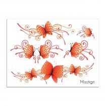 Sioou - Mini Butterfly - Tatouage éphémère
