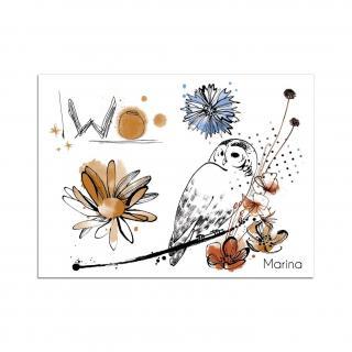Sioou - Mini Owl - Tatouage éphémère