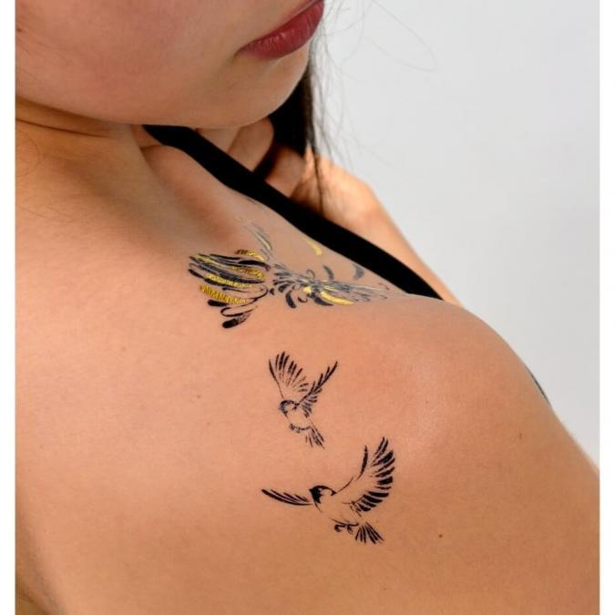 Sioou - Mini Sparrow - Tatouage éphémère