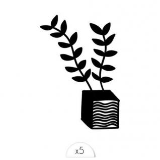 Sioou - Plante x5 - Tatouage éphémère