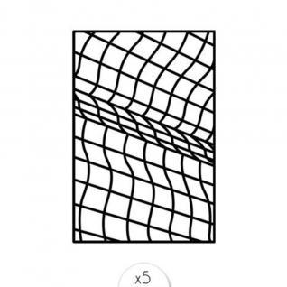 Sioou - Quadrillage x5 - Tatouage éphémère