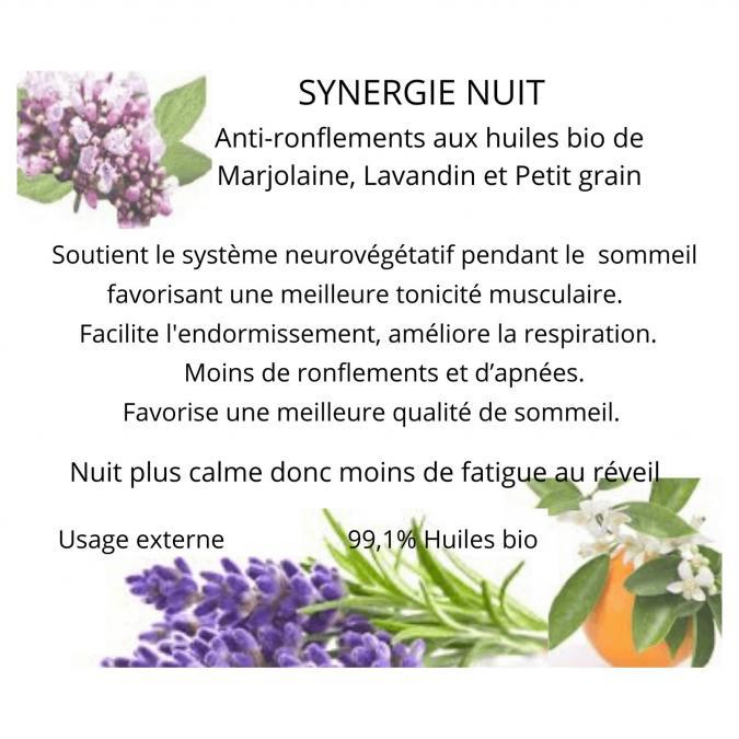 Soins naturels COSMEPROVENCE - Synergie Nuit - Soin bien-ëtre