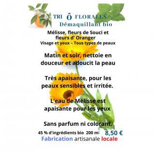 Soins naturels COSMEPROVENCE - Trio O FLORALES Démaquillant bio - ___Soin pour le visage - 0.226