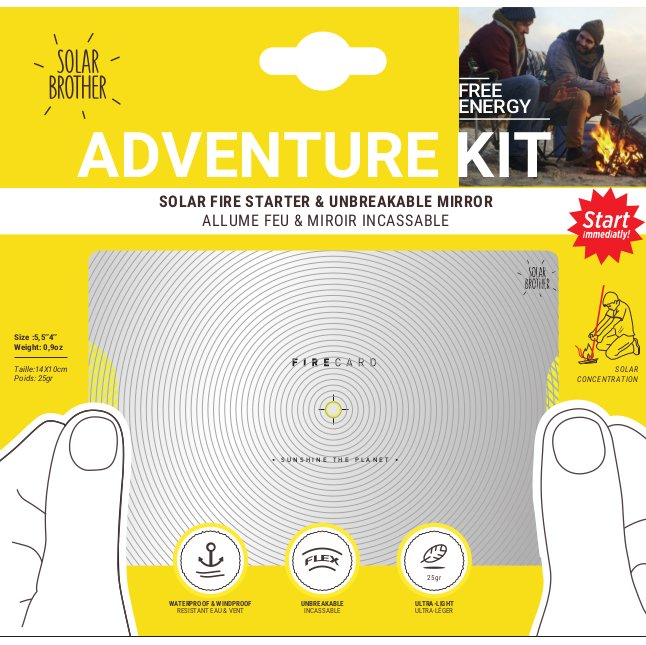 Solar Brother - Adventure Kit - Allume Feu & pyrograveur Solaire - Allume Feu