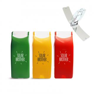 Solar Brother - Lot de 3 SunCase (Rouge, Orange, Vert) - Briquet Solaire (copie) - Briquet solaire