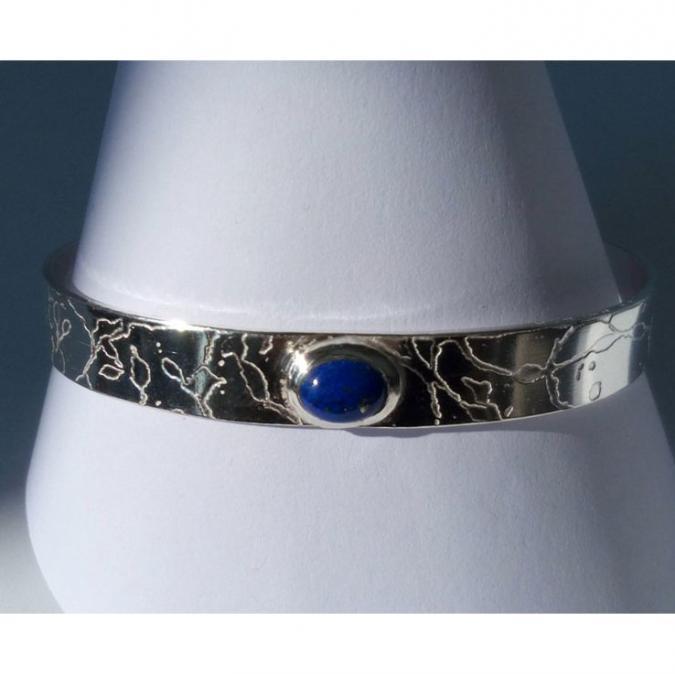 Sonja Cauvin Créations - BRACELET GRAVÉ avec Lapis Lazuli - Bracelet - Argent (925)