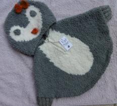 souricette-création - poncho pingouin - Poncho (enfant)