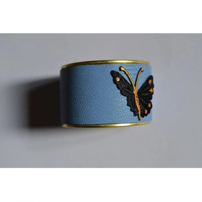 Soyeuse - Manchette Bleue Papillon - Manchette