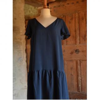 Soyeuse - Robe Claire crêpe de soie - Robe - Bleu