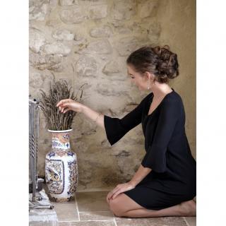 Soyeuse - Robe Demelsa crêpe de soie - Robe - Bleu