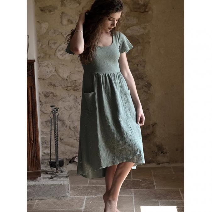 Soyeuse - Robe Mathilde - Robe - Vert
