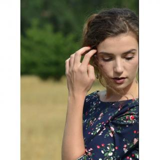 Soyeuse - Robe Victoria satin de coton - Robe - Bleu