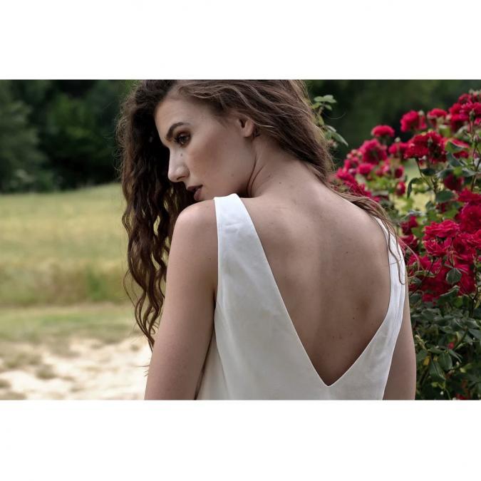 """Soyeuse - Top Albina """"l'Audacieuse"""" - Tee-shirt & Top - Blanc"""