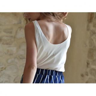 Soyeuse - Top Eurielle - Tee-shirt & Top - blanc