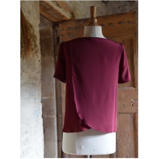 Soyeuse - Top Garance crêpe de soie - Tee-shirt & Top - Rouge