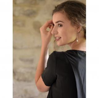 Soyeuse - Top Garance crêpe de soie - Tee-shirt & Top - Noir