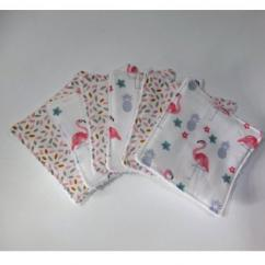 Sweet Choupy - 6 lingettes lavable flamand rose - Lingette