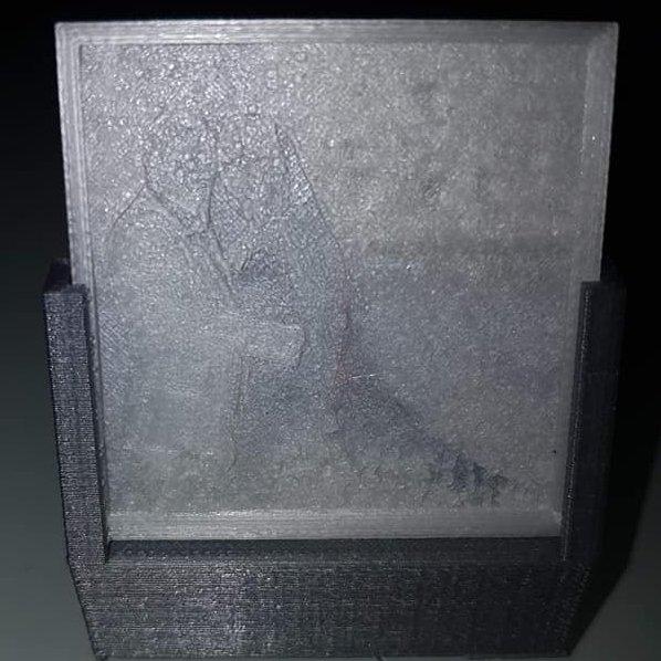 TD-PRINT-3D - Bougeoir photo - ___Objet décoratif - Plastique