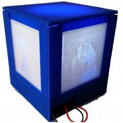 TD-PRINT-3D - Cube photo Led Personnalisable - ___Objet décoratif - Plastique