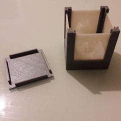 TD-PRINT-3D - Cube photo personnalisable ( bougie LED) - ___Objet décoratif - Plastique