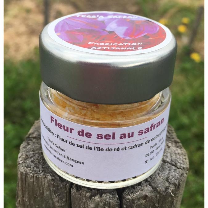 Terr'a Safran - Fleur de sel safranée - Fleur de sel