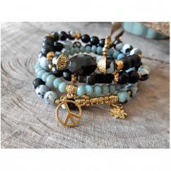 Terradelie Créations - Bracelet de Créateur en perles et Pierres de Gemmes - Bracelet - 4668