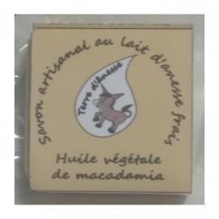 Terre d'ânesse - Savon artisanal au lait d'ânesse frais - Macadamia- - Savon - 0,100