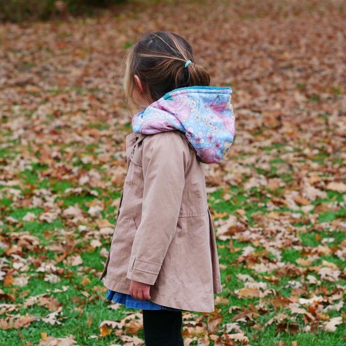 Têt'en l'air - Snood Capuche FLEURS - Accessoires de mode (enfant)