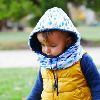 Têt'en l'air - Snood Capuche POISSON - Accessoires de mode (enfant)