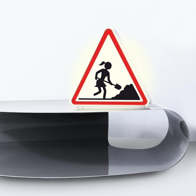 Thomas de Lussac - Lampe Attention travaux ! - Lampe de table - ampoule(s)