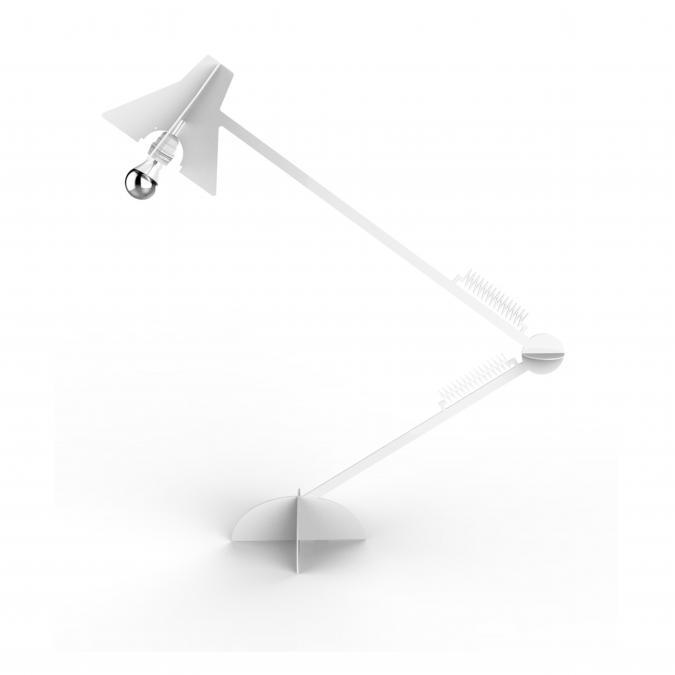 Thomas de Lussac - Larketip Blanc - Lampe de bureau - ampoule(s)