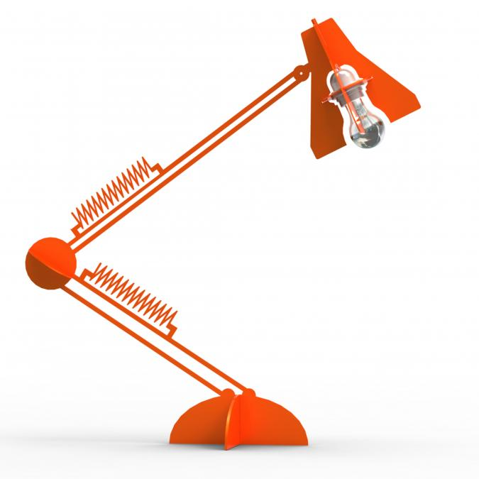 Thomas de Lussac - Larketip Rouge - Lampe de bureau - ampoule(s)