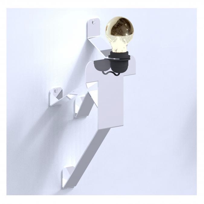 Thomas de Lussac - Moonwalk APPLIQUE COSMO blanc - Lampe de bureau - ampoule(s)